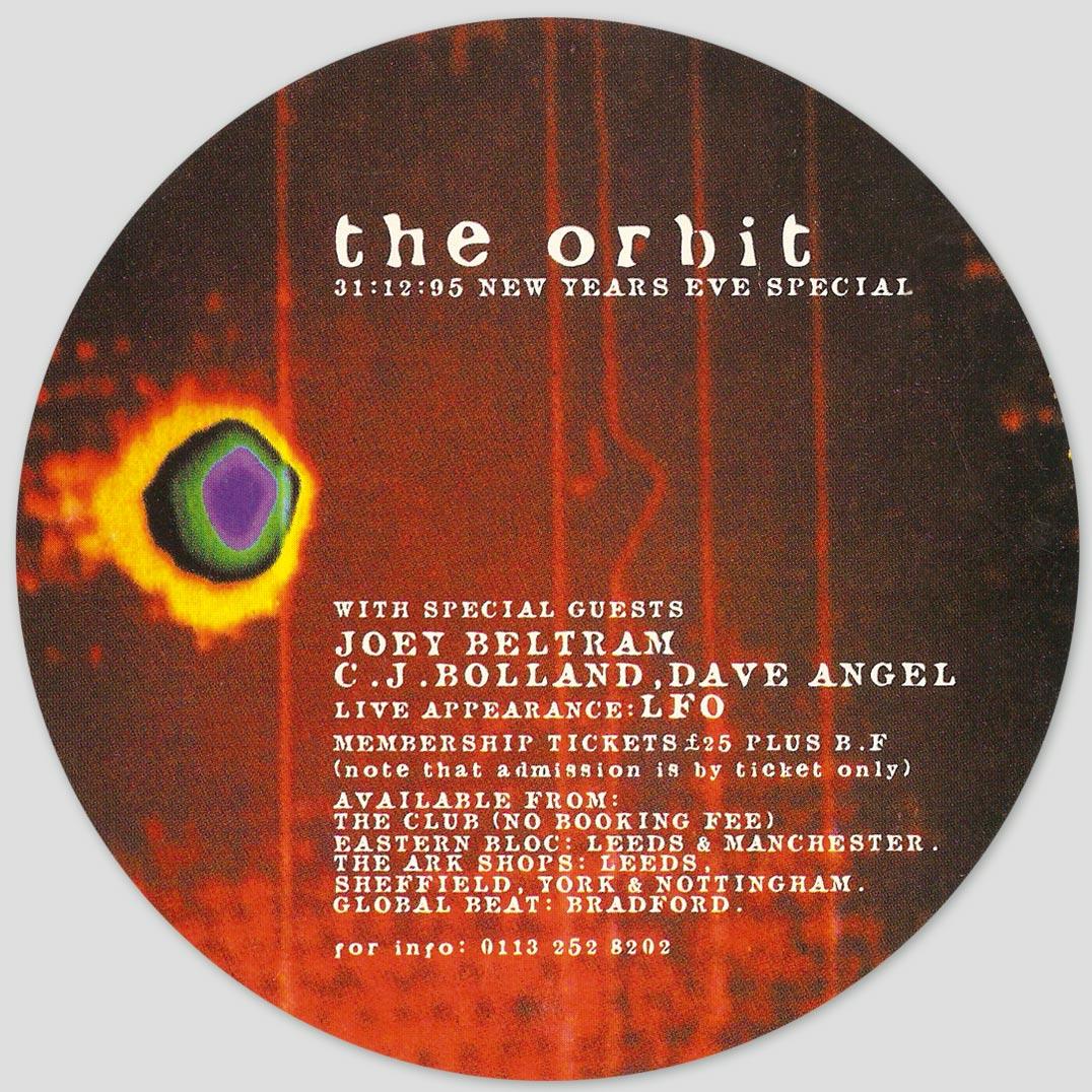The Orbit : Afterdark : 31st December 1995 : Front