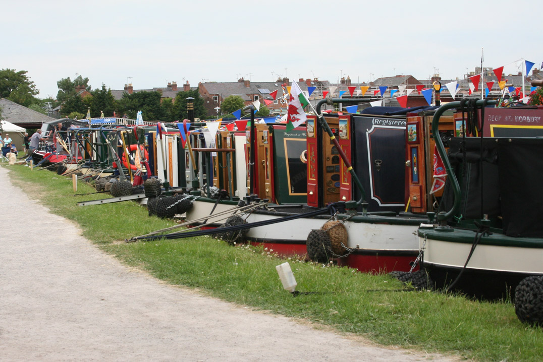 Narrow boat festival by the Canal Warehouse Workshop