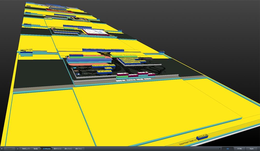 firefox 3D visualisation