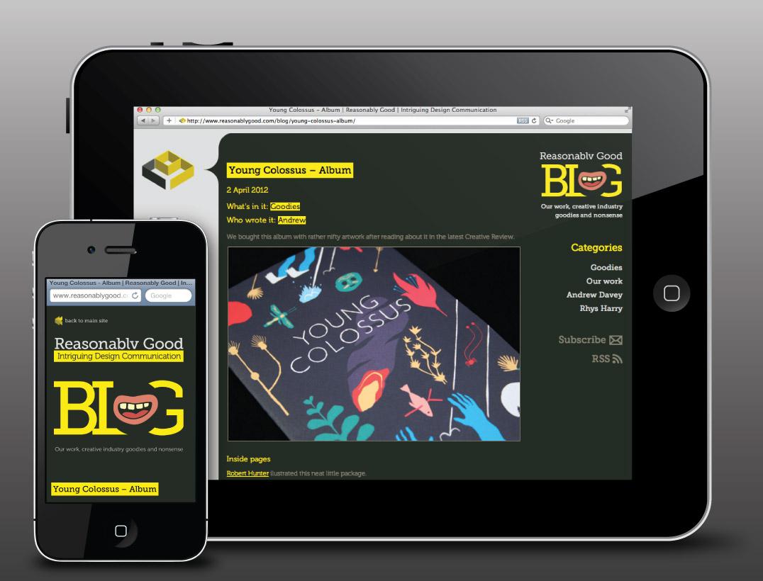 Reasonably Good Blog responsive web design
