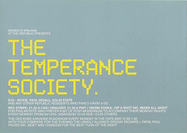 The Republic The Temperance Society
