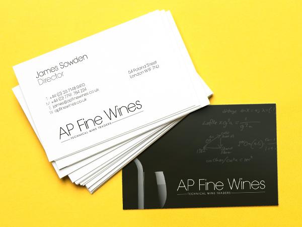AP Fine Wine Business Cards