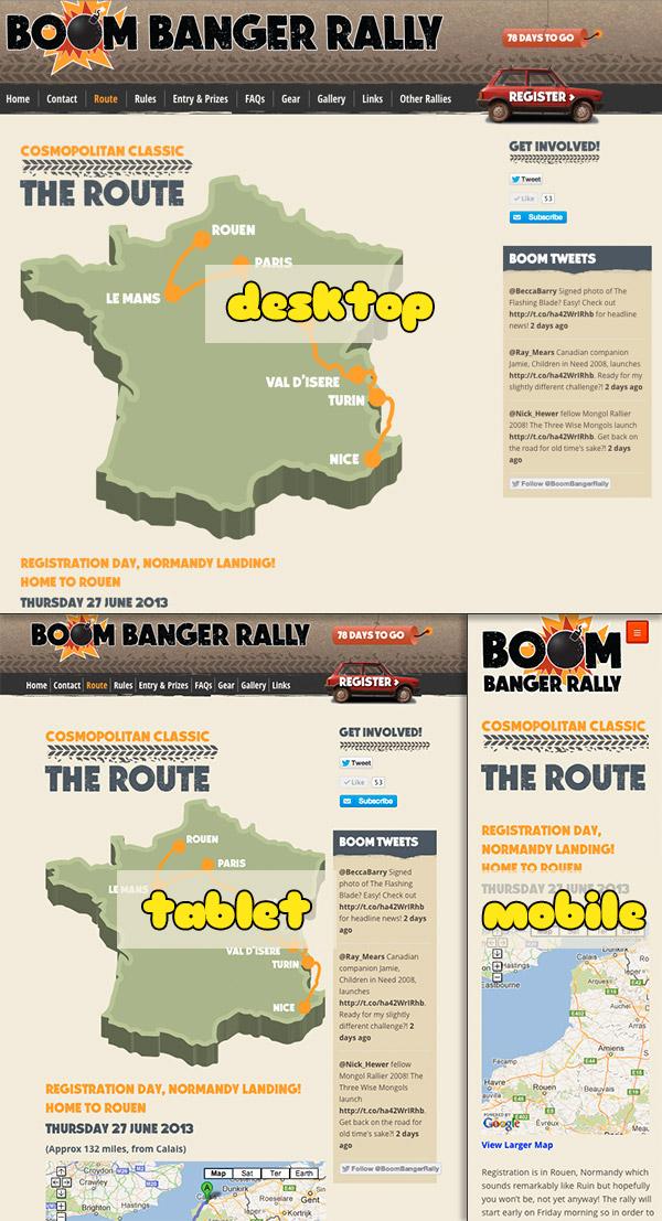 Boom Banger Rally - Responsive