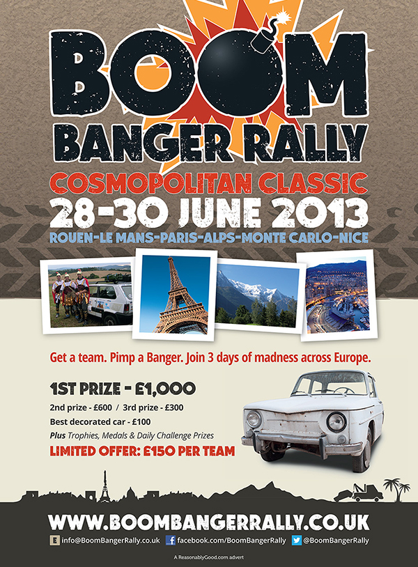 fhm boom banger rally advert