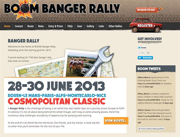 Boom Banger Rally - Home