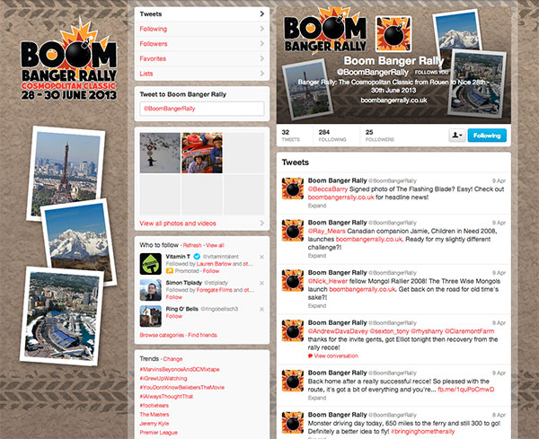 Boom Banger Rally - Twitter